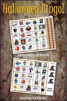 Kids love this Halloween Bingo game. Both printable and digital versions included for play at school or at home. Great for parties big and small. 30 boards for large group play. #halloween, #halloweenparties, #halloweenfun Retro Halloween, Halloween Party Games, Halloween Activities, Bingo Set, Bingo Games, Party Activities, Classroom Activities, Teaching Resources, Teaching Ideas