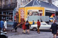 daniel buren, affichages sauvages, 1968