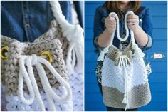 Mykonos – Crochet Bag from Sunny Greece [Free Pattern] This absolutely perfect pattern is free and available on the website with full details describe how to make the  crochet bag with the handles and other stuff.  #freecrochetpatternsbag