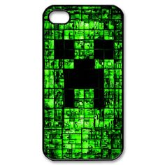 Custom Black Shell Phone Case IPhone 5 5S Cases Minecraft Game Background Personalized Design
