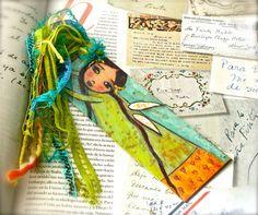 Heartdrops Fairy   Laminated Bookmark  Handmade  by FlorLarios, $8.00