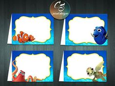 FINDING DORY Food Labels  Blank by cspixeldesigns on Etsy