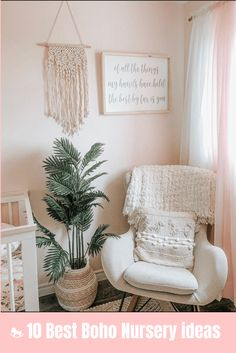 Feb 2020 - We have collected the best 10 Boho nurseries to show the fabric, furniture, and accessories to use in the nursery. Boho Nursery, Baby Nursery Decor, Baby Decor, Nursery Ideas, Cottage Nursery, Baby Girl Room Decor, Baby Nursery Furniture, Children Furniture, Project Nursery