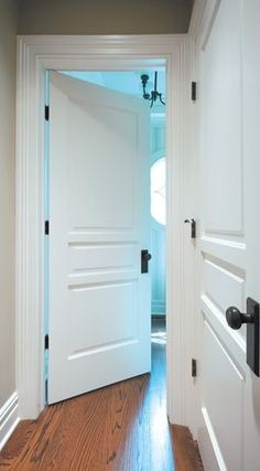 The Black hardware   Traditional Doors