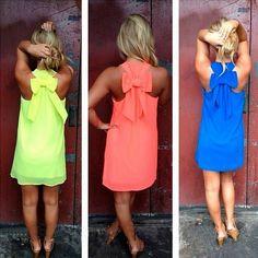 Women's Casual Dress - Tank Sleeveless Mini Party Dress Back Bowknot