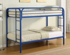 Coaster Twin/Twin Bunk Bed, Blue -- Want to know more, click on the image. (This is an affiliate link) #EasyHomeDecor