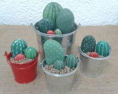 Piedras pintadas: cómo hacer cactus con piedras