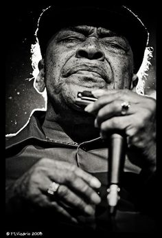 James Cotton (1935) - American blues harmonica player, singer and songwriter, who has performed and recorded with many of the great blues artists of his time as well as with his own band. Although he played drums early in his career, Cotton is famous for his work on the harmonica. - Photo M. Vicario 2008