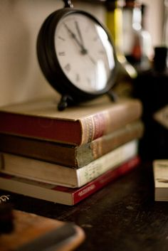 The clock & the books