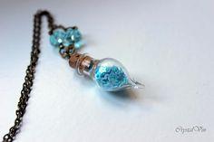 Necklace necklace. tiny bottle necklace bottle necklace