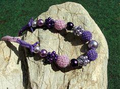 Calinka / fialkový náhrdelník