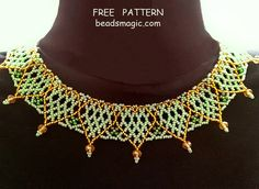 Free pattern for necklace Sweetheart | Beads Magic