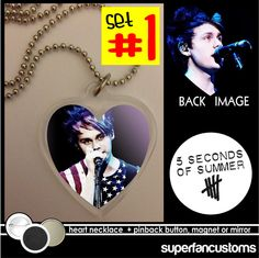 Michael Clifford NECKLACE + BUTTON or MAGNET 5 Seconds of Summer 5sos five #1498 #necklace