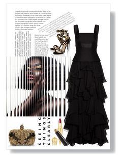 """""""Seeing Things Clearly"""" by conch-lady ❤ liked on Polyvore featuring Alexander McQueen, Paul Andrew, Christian Louboutin and By Terry"""