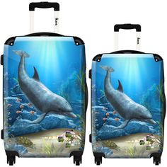 Luggage Cover Nautical Abstract Sea Shells Ocean Waves Protective Travel Trunk Case Elastic Luggage Suitcase Protector Cover