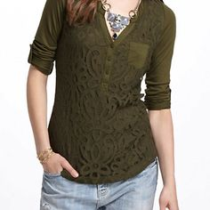 Lace, green and a Henley to boot