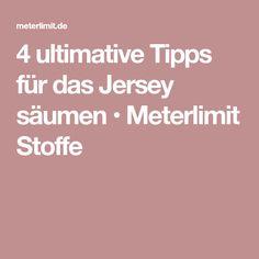4 ultimative Tipps für das Jersey säumen • Meterlimit Stoffe