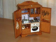 mini kitchen in cabinet