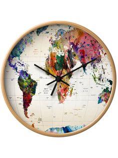 Reloj de pared: Mapamundi