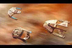 Star Trek First Contact Fleet by AdamKop.deviantart.com