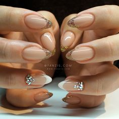 #gold #glitter #french #nails #lecente #fanzis #peru