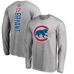Kris Bryant Chicago Cubs Fanatics Branded Backer Long Sleeve T-Shirt - Gray - $39.99