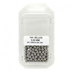 Boite de 144 billes acier - Diamètre 5,50 mm
