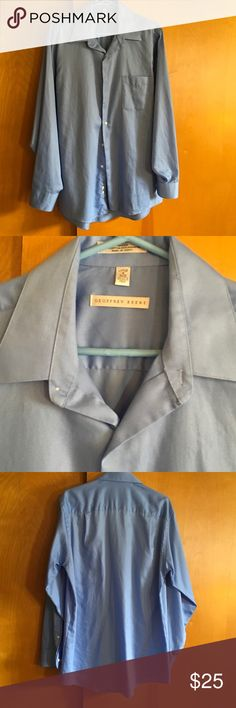 Dress shirt for men This shirt is a large 16 34/35 size color blue in very good condition Geoffrey Beene Shirts Dress Shirts