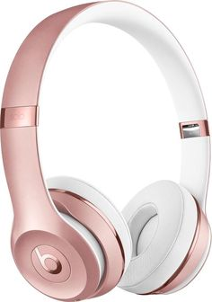 Beats by Dr. Dre - Geek Squad Certified Refurbished Beats Solo3 Wireless Headphones - Rose Gold