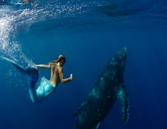 Mermaid Hannah Fraser - I want a mermaid tail to swim with the dolphins and whales!