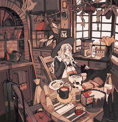 Cartoon Kunst, Cartoon Art, Art And Illustration, Pretty Art, Cute Art, Aesthetic Art, Aesthetic Anime, Character Art, Character Design