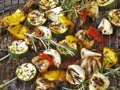 Rezept: Gegrillte Gemüsespieße