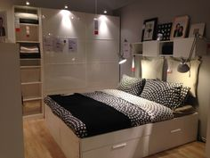 Showroom Bedroom at iKea – Top Trend – Decor – Life Style Living Room Decor Gray, Ikea Bedroom, White Bedroom Furniture Ikea, Ikea Bedroom Decor, King Bedroom Furniture, Showroom Living Room, Ikea Bedroom Sets, Ikea Showroom, Hotel Room Design Bedrooms