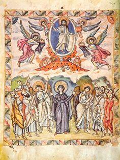 The Ascension, Rabbula Gospels, 6th century.