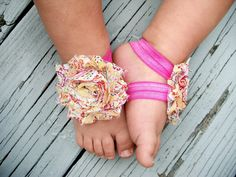 20%OFF .. Baby Barefoot Sandals..Yellow Paisley..Toddler Sandals..Newborn Sandals