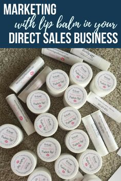 Lip balm or chapstick for your direct sales business! This is the best business card you can use for your business because they won't throw it away! Check this out!  Melissa Fietsam, Ind. Executive Director at Thirty-One Gifts  www.buymybags.com