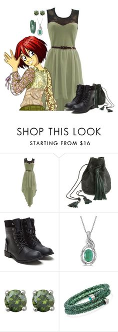 """Will: New year party"" by holly-the-fangirl ❤ liked on Polyvore featuring Lush Clothing, Wendy Nichol, Allurez and Swarovski"