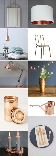 Spotted: Copper home accessories Spring Summer 2015, home Furnishing and Interiors color trend report. Decorate your home according to 2015 trends