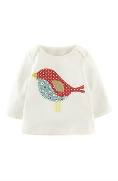 Mini Boden Patchwork Appliqué Tee (Baby Girls)