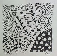 Zentangles are big now and are very high interest with middle school art students.