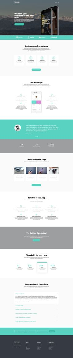 Aesthetic Is A Free Responsive HTML Website Template Based On - Website front page template