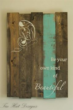 Reclaimed wood pallet plaque
