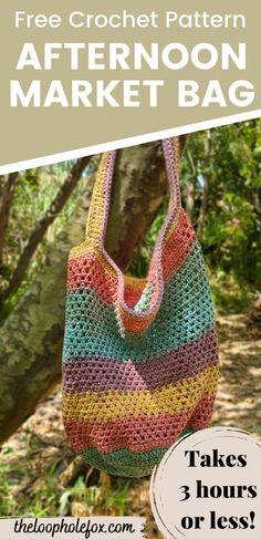 Free Crochet Bag, Crochet Market Bag, Crochet Tote, Crochet Purses, Crochet Gifts, Free Crochet Purse Patterns, Free Crochet Patterns For Beginners, Bag Pattern Free, Crochet Accessories