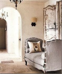 Gives me ideas .. why couldn't you take two chairs, facing and attached,& lay a long cushion over the two to make a settee?