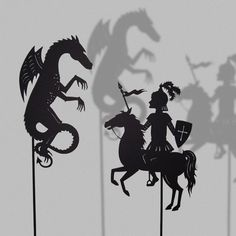 St. George and the dragon: shadow puppet