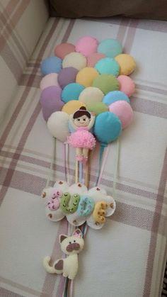 Da pra fazer os baloes com pompons de la ❤