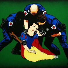 Bad Apple, Twisted Disney, Blue Bird, Graffiti, Cinderella, Street Art, Disney Characters, Fictional Characters, Snow White