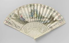 1750-1775, the Netherlands (?) - Fan - Painted parchment, ivory