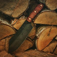 """After watching """"The revenant"""" I went to the workshop and this is the knife I made. Inspired by a great movie:) By the way I am thinking about short movie from making very similar one :)"""