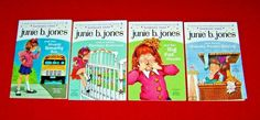 4 JUNIE B. JONES Books Starter Set #1 2 3 4 Grades Guided Level M Barbara Park